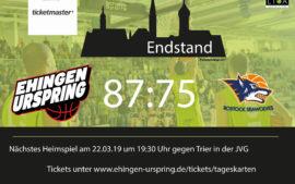 Sieg in Rostock – großer Kampf mit kleinem Kader